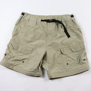 Vintage 90s REI Womens Large Hiking Shorts Khaki